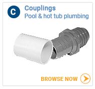 Hot tub plumbing couplings, all sizes