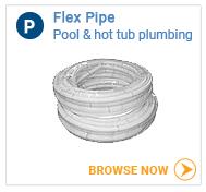 Hot tub plumbing flex pipe