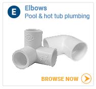 Hot tub plumbing elbows