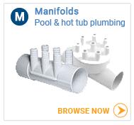 Hot tub plumbing manifolds