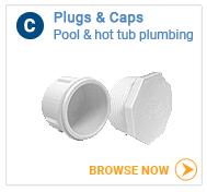 Hot tub plumbing caps and plugs