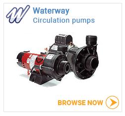 Waterway hot tub circulation pumps