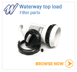 Waterway top load filter parts