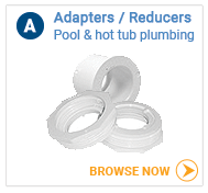 Hot tub plumbing adapters and reducers