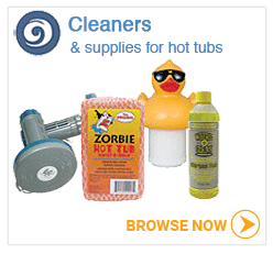 Hot tub cleaners and supplies
