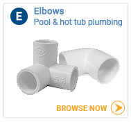 Hot tub plumbing elbows