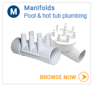 Hot tub plumbing manifolds