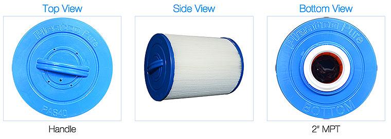 Pleatco filter pas40-fm2