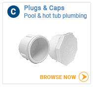 Hot tub plumbing caps and plugs