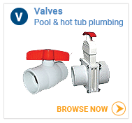 Hot tub plumbing valves